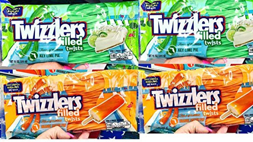 Key Lime Cream - 4 pack 2 Orange Cream Twizzlers Key Lime Pie 2 Orange Cream Pop