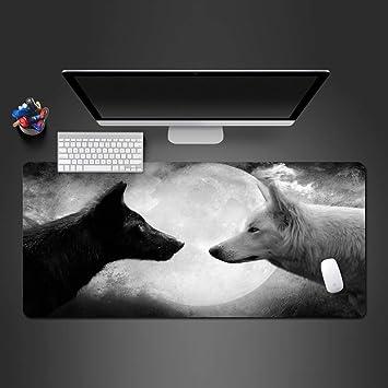 sxkdyax Animales Lobos Alfombrilla de Ratón para Juego Juego del Jugador Alfombras de Oficina Ordenador Teclado Mesa de Alfombrillas Ultradelgada Alfombrilla de Ratón-90CMX40CM: Amazon.es: Electrónica