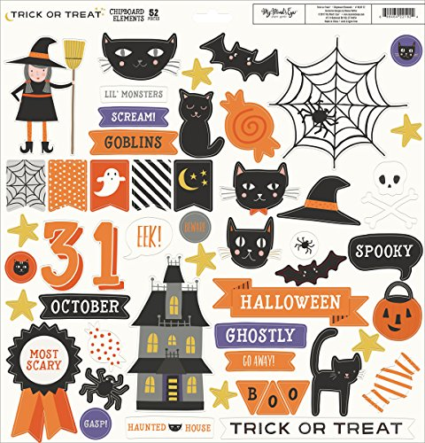 Or Treat Chipboard Elements 12