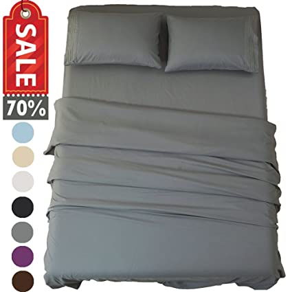 Sonoro Kate Bed Sheet Set Super Soft Microfiber 1800 Thread Count Luxury  Egyptian Sheets 16