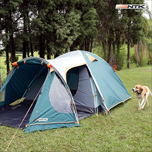 NTK INDY GT 4 to 5 Person 12.2 by 8 Foot Outdoor Dome Family Camping Tent 100% Waterproof 2500mm, European Design, Easy Assembly, Durable Fabric Full Coverage Rainfly - Micro Mosquito Mesh. by NTK (Image #7)