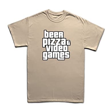 Beer Pizza And Video Games Funny Gaming T-shirt