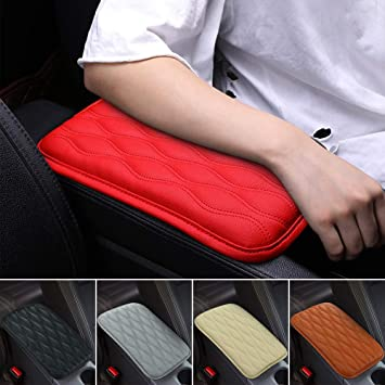 Console Armrest Cover Seat Box Pad Car Soft Faux Leather Mat Armrest Center