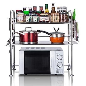 WENZHE Estante De Cocina Microondas Rejilla Del Horno Piso De Pie Multifunción Casa Maquina Para Hacer