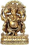 Three Headed Ganesha - Brass Statue