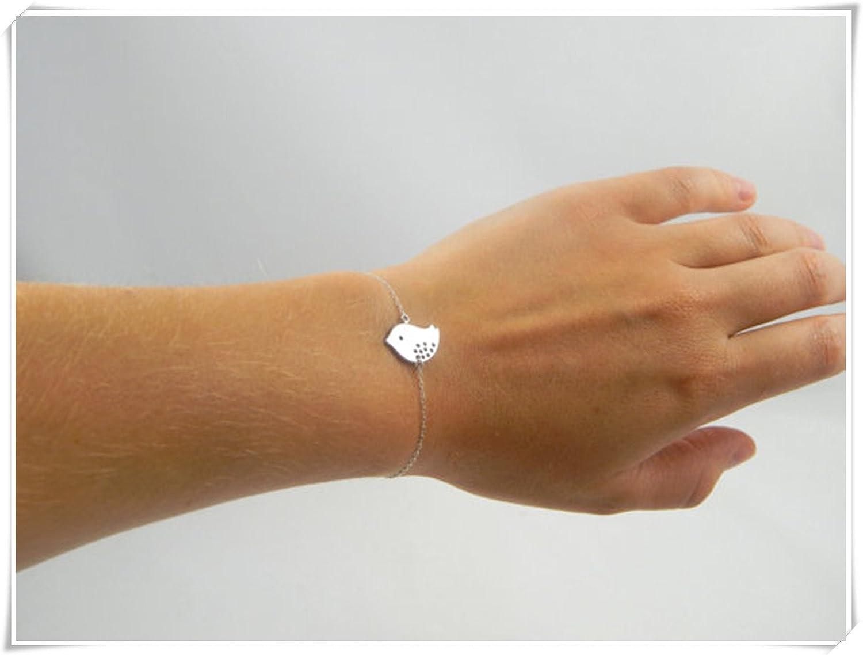Silver bird bracelet, bird bracelet, animal bracelet, nature bracelet, silver bracelet