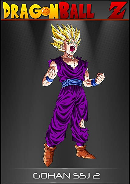 Dragon Ball Z Gohan SSJ 2 A1 A2 A3 A4 Póster Anime Manga Super Saiyan Goku