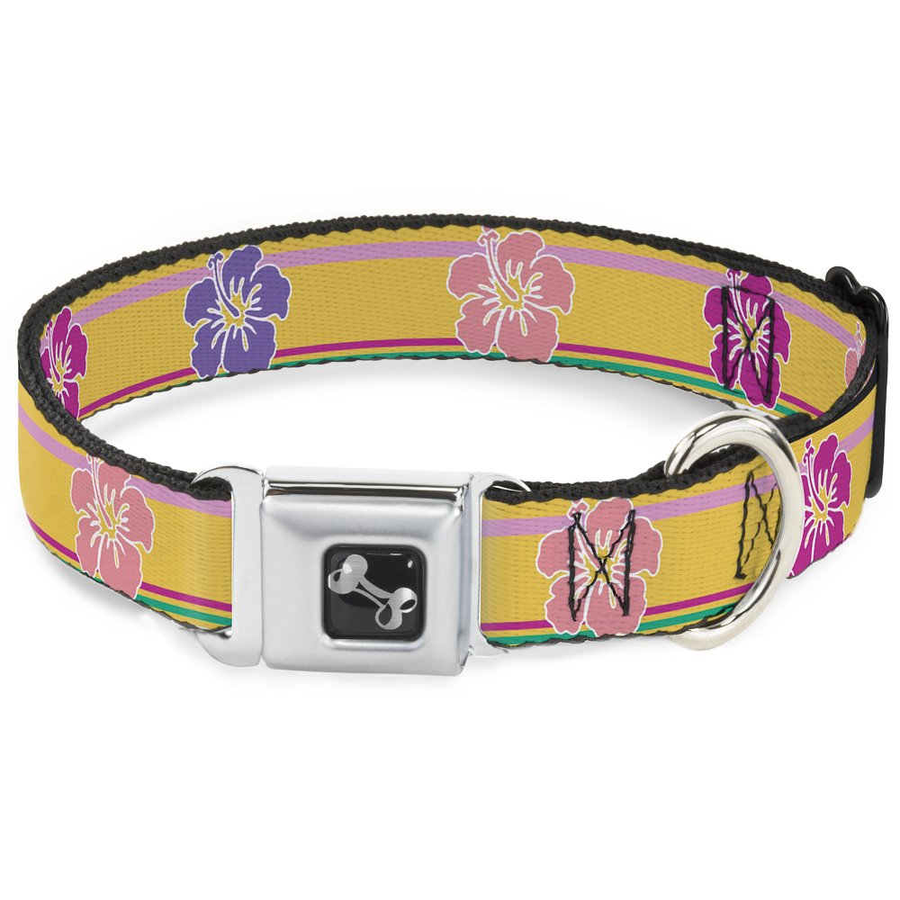 Buckle-Down DC-W30864-WL Seatbelt Dog Collar, 1.5  Wide-Fits 18-32  Neck-Large