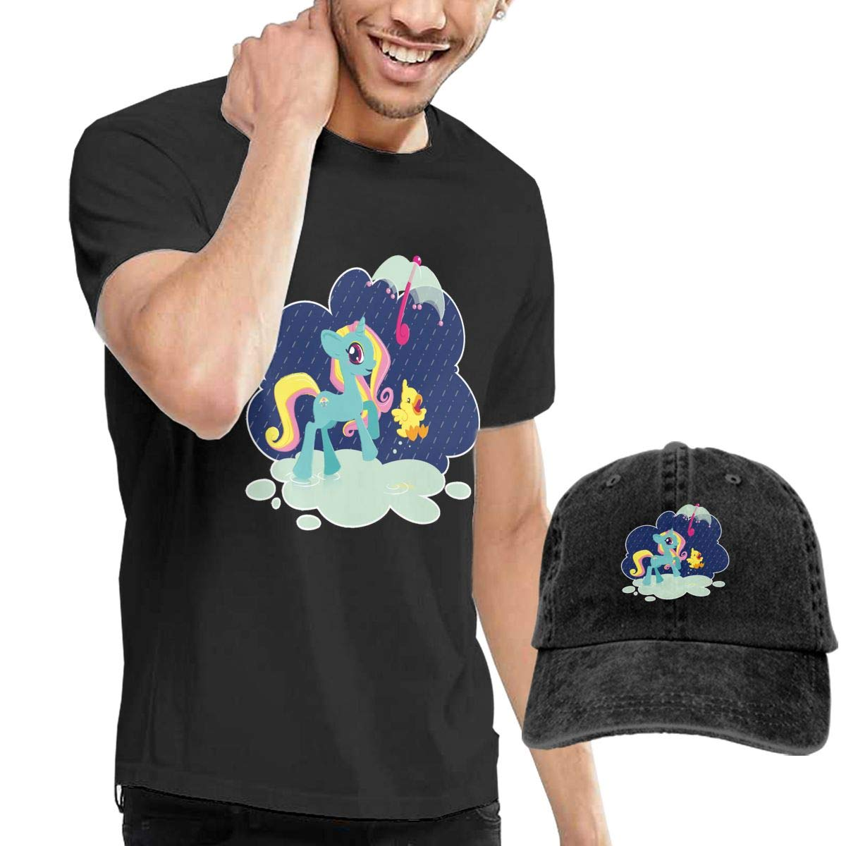 Unicorn Umbrella Fashion Mens T-Shirt and Hats Youth /& Adult T-Shirts