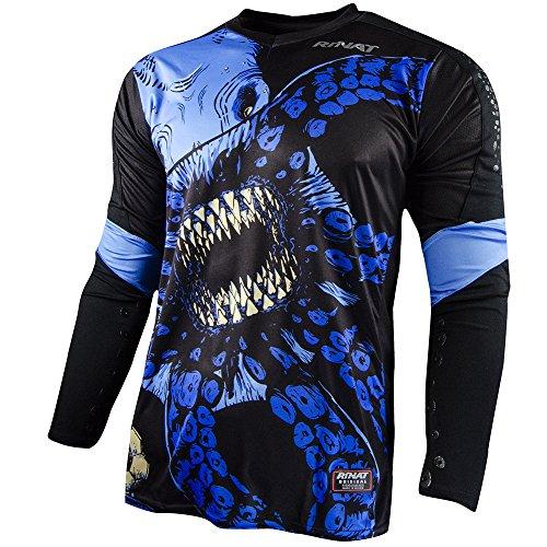Rinat Kraken New Goalkeeper Jersey (Black/Blue, Adult Extra-Large)