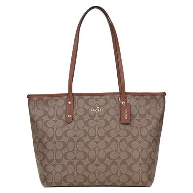 21c5ae2597e6 Coach Women s PVC Inclined Shoulder Bag F58292 (Khaki brown IMBDX ...