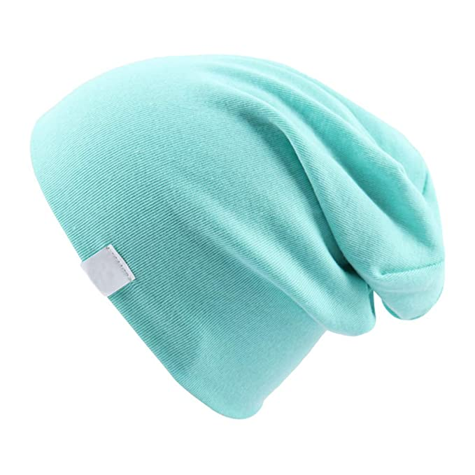 7289d72c34f MJ-Young Toddler Infant Baby Cotton Soft Cute Knit Kids Hat Beanies Cap Boys  Aqua