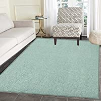 Ivory and Blue Area Rug Carpet Squares Rectangles and Spiral Lines Bicolor Geometric Composition Living Dining Room Bedroom Hallway Office Carpet 5x6 Pale Blue and Ivory