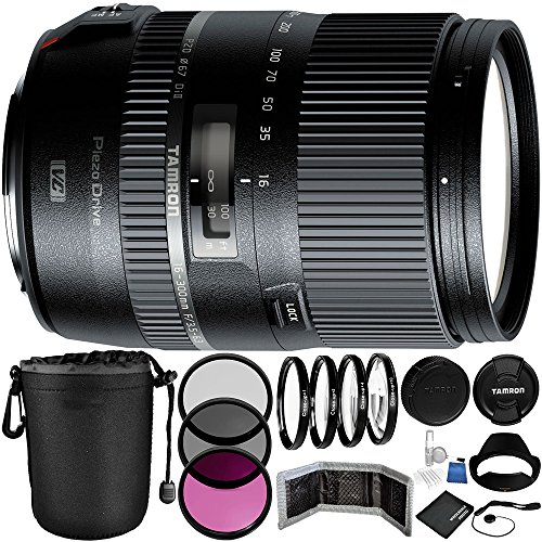 Tamron 16-300mm f/3.5-6.3 Di II VC PZD MACRO Lens for Canon Bundle with Manufacturer Accessories & Accessory Kit (23 Items)