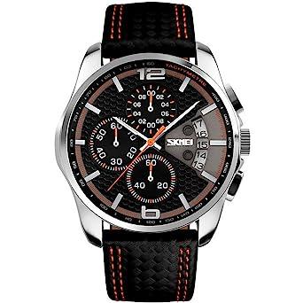 Relojes de Hombre Sport LED Digital Military Water Resistant Men De Hombre Para Caballero (Orange