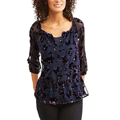 7abfd7d4fd216 Faded Glory Velvet Blowout at Amazon Women s Clothing store