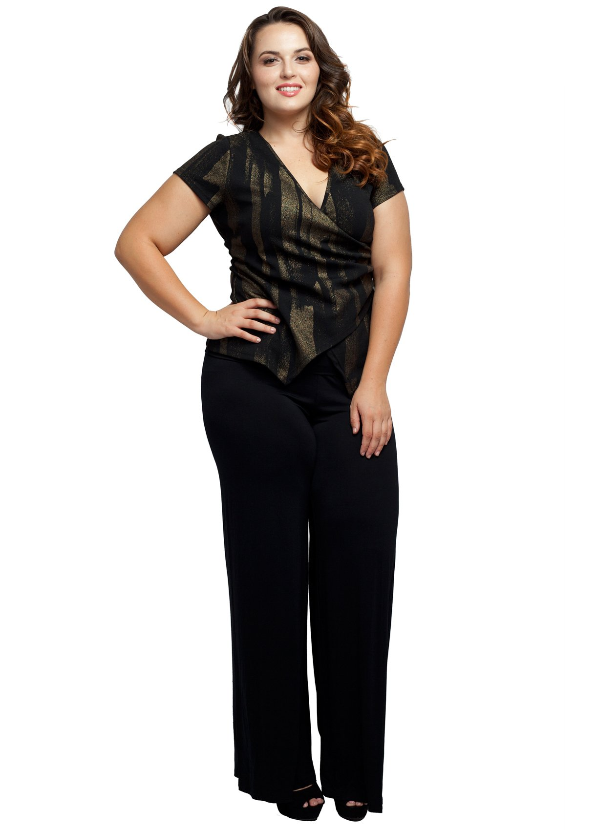 Stylzoo Women's Premium Modal Softest Ever Palazzo Solid Stretch Pants Black Regular 2X by Stylzoo (Image #2)