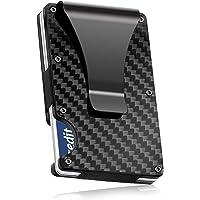Carbon Fibre Wallet Slim Money Clip & Minimalist RFID Blocking Front Packet Slim Wallet Aluminum Metal Wallet & Business Card Holder Billfolds for Men and Women