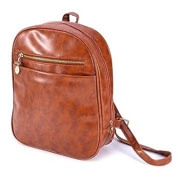 c36546b07c7 GUBENM Rucksack, Frauen Vintage Leder Schulranzen Schultertasche Rucksack  Reise Mini Rucksack Geldbörse, Schule und