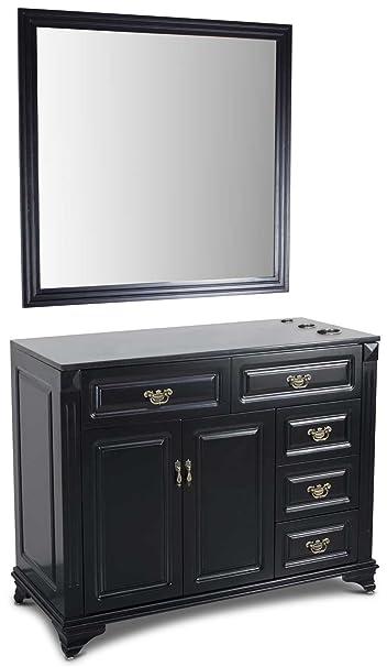 Icarusu0026quot;Tucsonu0026quot; Single Hair Salon Styling Station U0026 Mirror With  Granite Top, ...