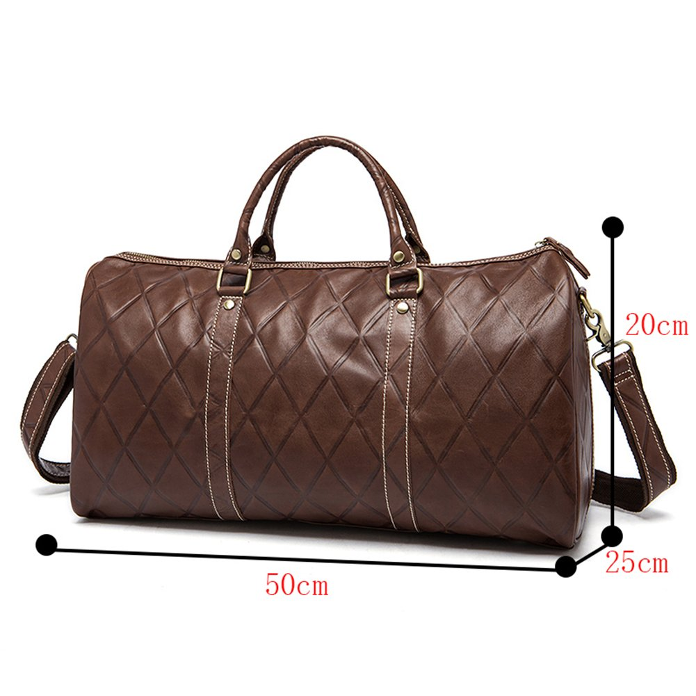 Genda 2Archer Leather Travel Duffel Bag Boarding Luggage Carry On Gifts for Men Women (50cm20cm25cm)
