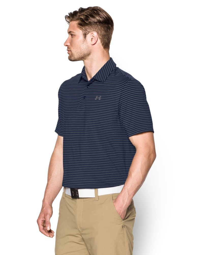 Under Armour Men's Playoff Polo, Academy (410)/Steel, Small by Under Armour (Image #3)