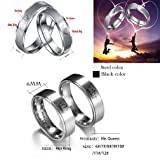 Stainless Steel Couples Ring His & Hers Real Love