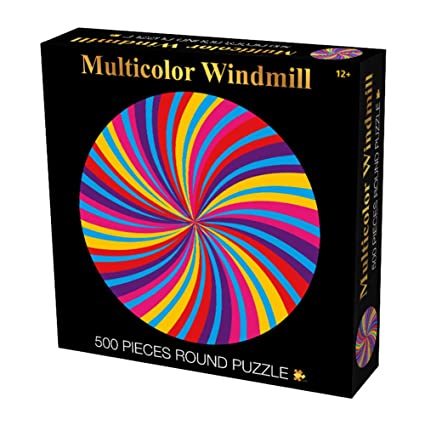 Adeeing 500Pcs Colorful Round Windmill Puzzles Kids Educational Toy
