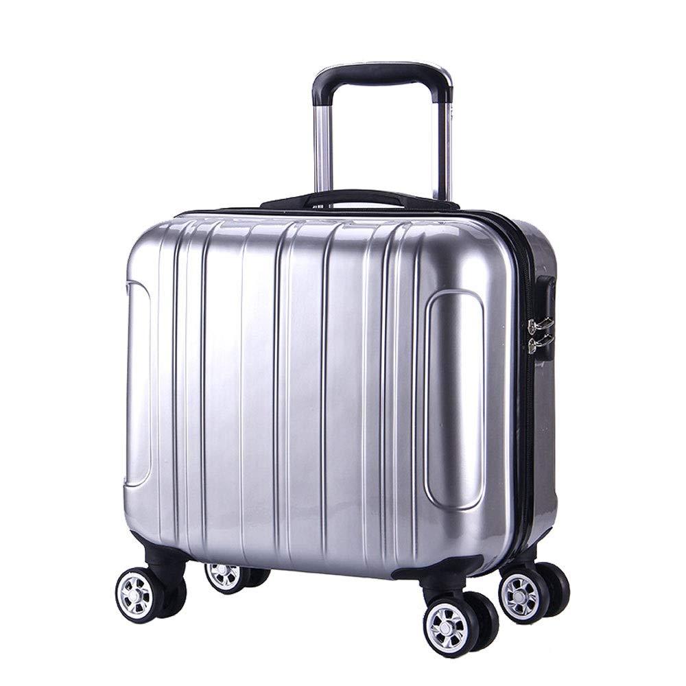 トロリーケースミラーABS素材ユニバーサルホイール荷物アウト旅行旅行シャーシビジネスパスワードボックス (Color : シルバー しるば゜, Size : 39x23x40cm)   B07RJBTMWS
