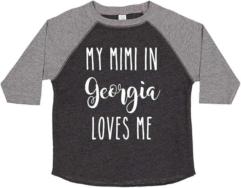 My Mimi in Georgia Loves Me Toddler//Kids Raglan T-Shirt