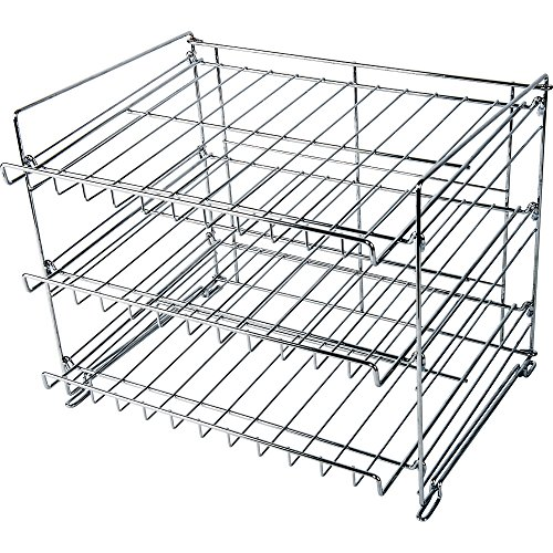 Wyndham House 3-Layer Wire Can Rack, Kitchen Organizer and Space-Saving All-Purpose Rack, Chrome