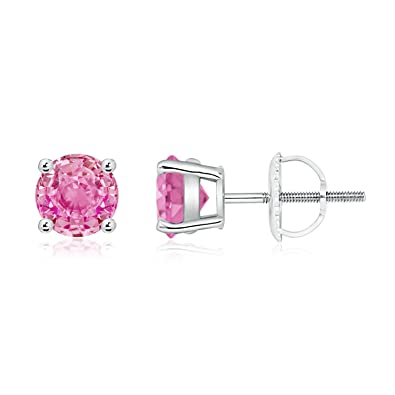Angara Basket-Set Pink Tourmaline Stud Earrings in Platinum a1EEk