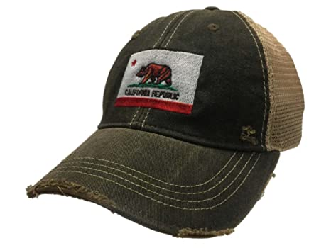 d2c04f1f0551c3 Image Unavailable. Image not available for. Color: California State Flag  Retro Brand Vintage Adjustable Snapback Trucker Hat Cap