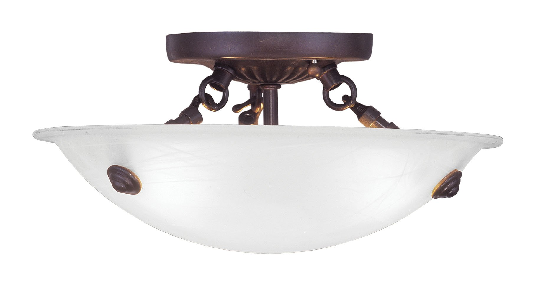 Livex Lighting 4272-07 Oasis 3-Light Ceiling Mount, Bronze
