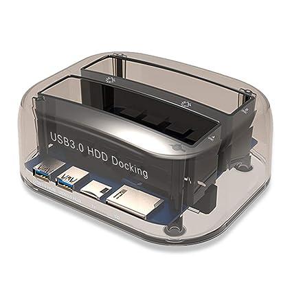 USB 3.0 a la estación de Acoplamiento de Disco Duro SATA de Doble ...