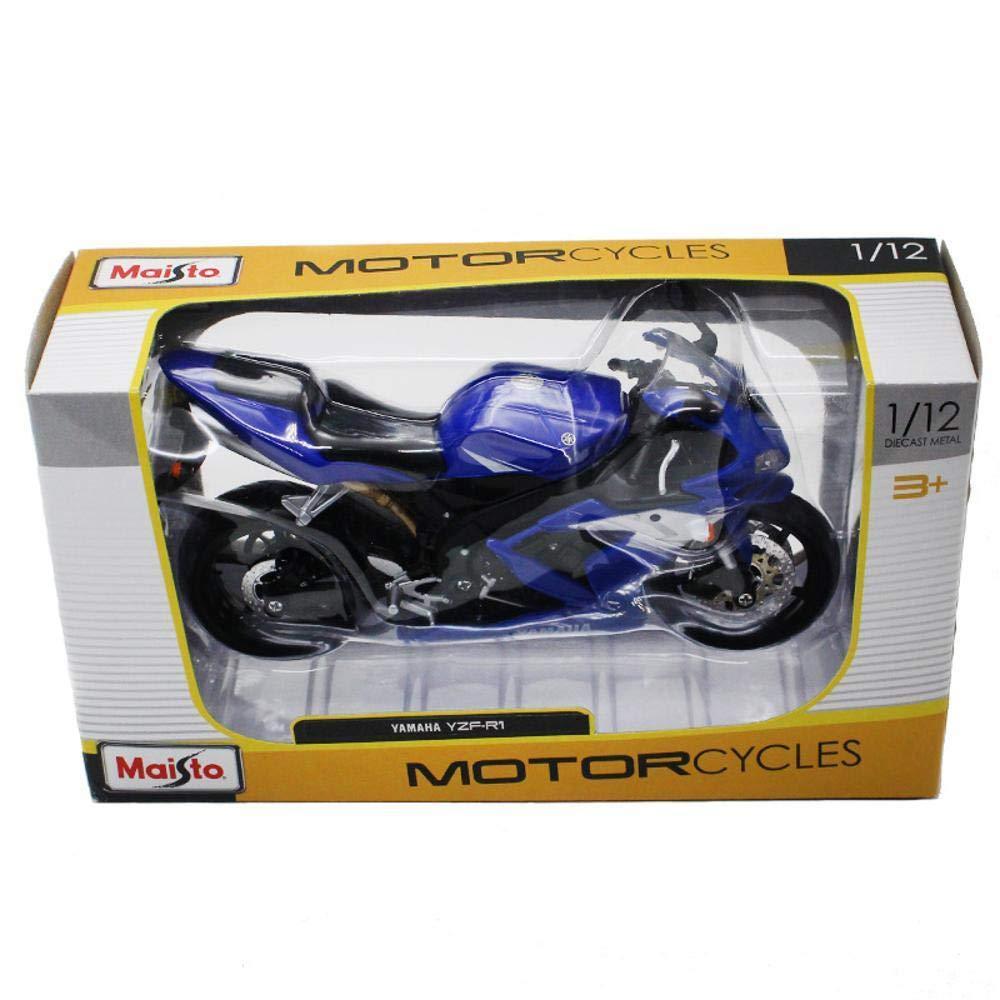 Penao Modelo de la Motocicleta de Yamaha YZF-R1 aleación simulación, Adornos de Coche Modelo, proporción 1:12: Amazon.es: Jardín