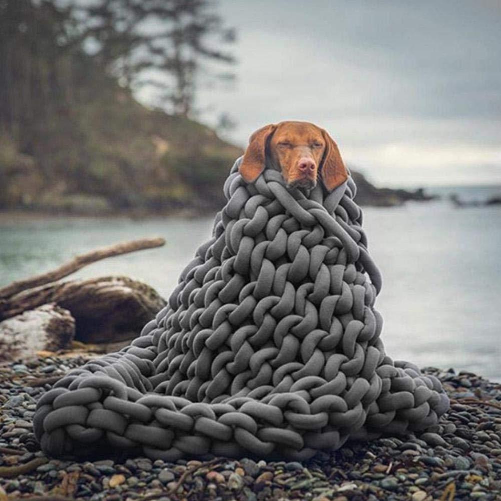 alfombras nidos de Mascotas fabricaci/ón de Cojines SOWLFE Hilo de Lana de 25 m para Tejer Mantas