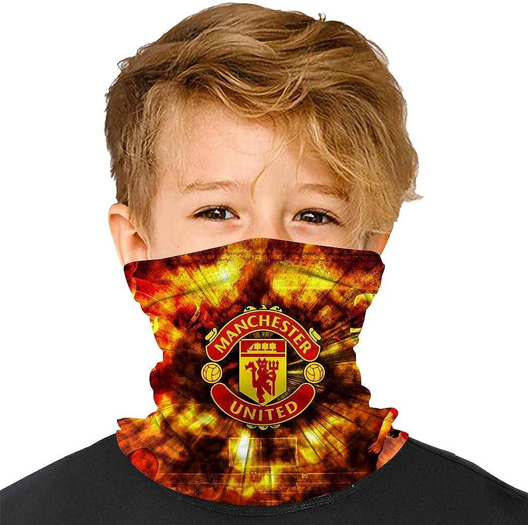 Ch-E-Lsea Football Face Bandanas Boys Girls Warmer Neck Gaiter Headband for Outdoor Sport Dust Sun Protection