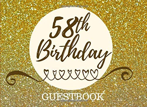 Pdf Parenting 58th Birthday Guestbook: Registry Memory Keepsake - Signature Registration Guest Book