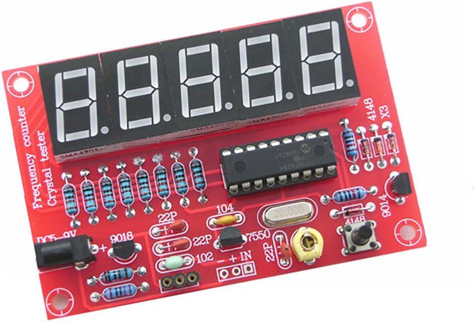 Eugeneq DIY Digital LED 1Hz-50MHz Crystal Oscillator Frequency Counter Meter Tester Kit