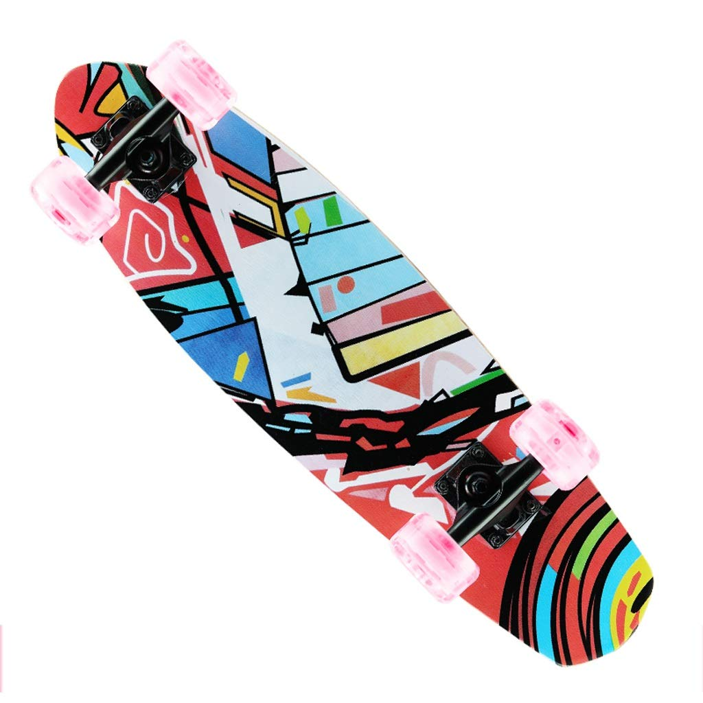 特売 DUWEN スケートボード四輪スケートボードティーンダブルロッカースケートボード子供大人のプロスケートボード初心者スクーター(フラッシュホイール) (色 (色 B07NQ6NZ1W : D) B07NQ6NZ1W D D, 北方町:4b5066d5 --- a0267596.xsph.ru