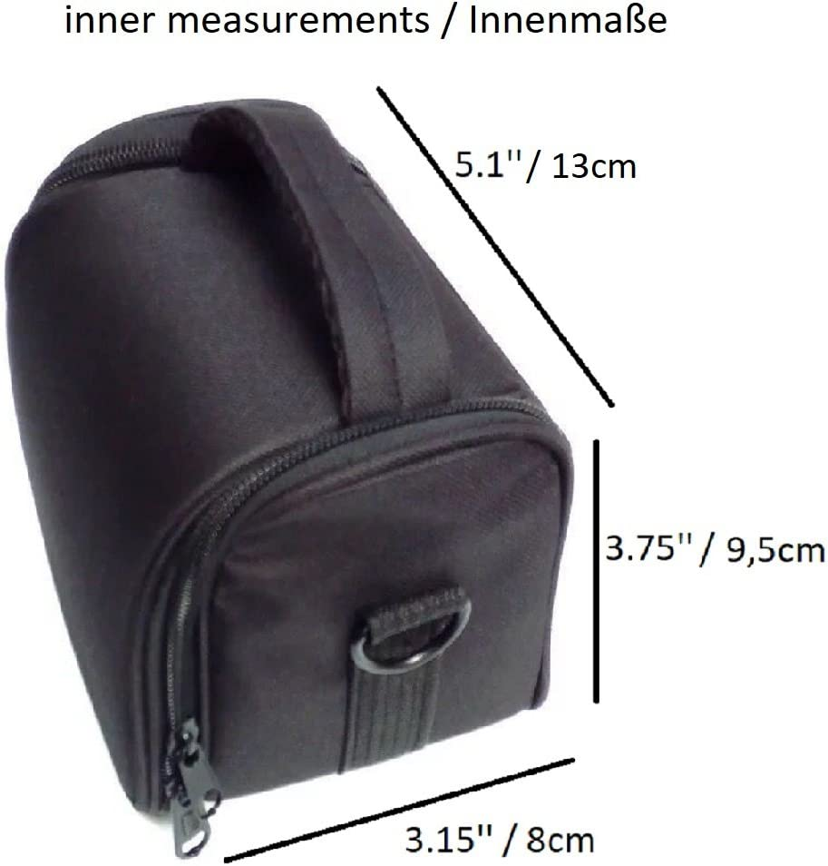 Anti Shock Black Dimensions Shockproof Compatible With Panasonic Lumix DC-GX9 13cm Shoulder Bag//Carry Bag Camera Bag Protective Sleeve Photo Camera Case Travel Case Accessory Bag Rain Protection