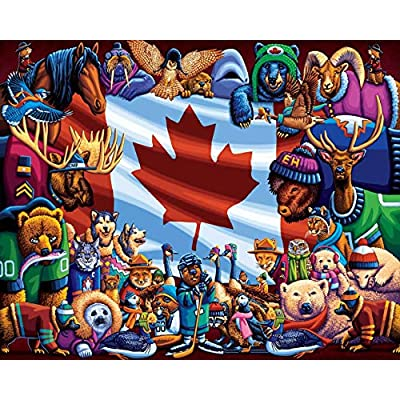 Dowdle Jigsaw Puzzle - Animals of Canada - 100 Piece: Toys & Games