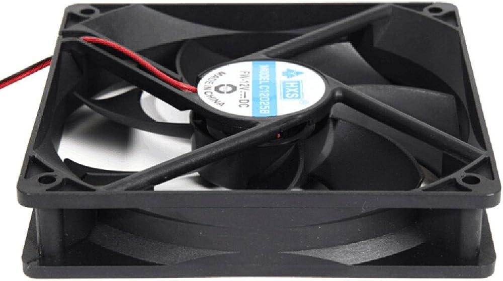 Jonerytime1pcs 120mm 120x25mm 12V 4Pin DC Brushless PC Computer Case Cooling Fan 1800PRM Black