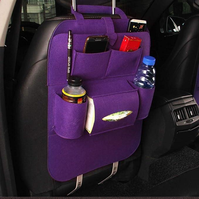 Vosarea Auto Rückenlehnenschutz Trittschutz Auto Rücksitz Organizer Für Baby Kinder Autositzschoner Autositz Aufbewahrungstasche Rückenschutz Lila Auto