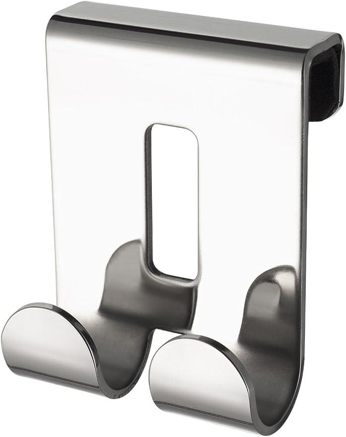 Haceka Selection Doppelhaken für Glaswände u Glastüren Edelstahl Glänzend Chrom