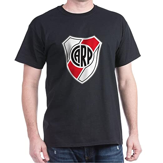 CafePress Escudo River Plate 100% Cotton T-Shirt Black