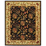 Safavieh Chelsea Collection HK141B Hand-Hooked Black Premium Wool Area Rug (6' x 9')