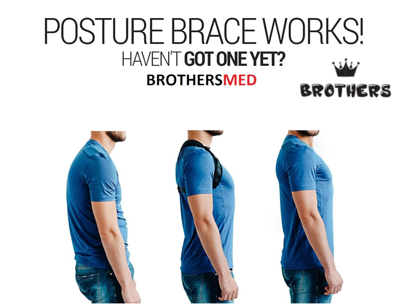 Posture Corrector for Women & Men, Orthopedic Back Support,Fully Adjustable, Breathable and Comfortable Support Brace,Upper Back & Neck Pain Relief by Brothers (Image #7)