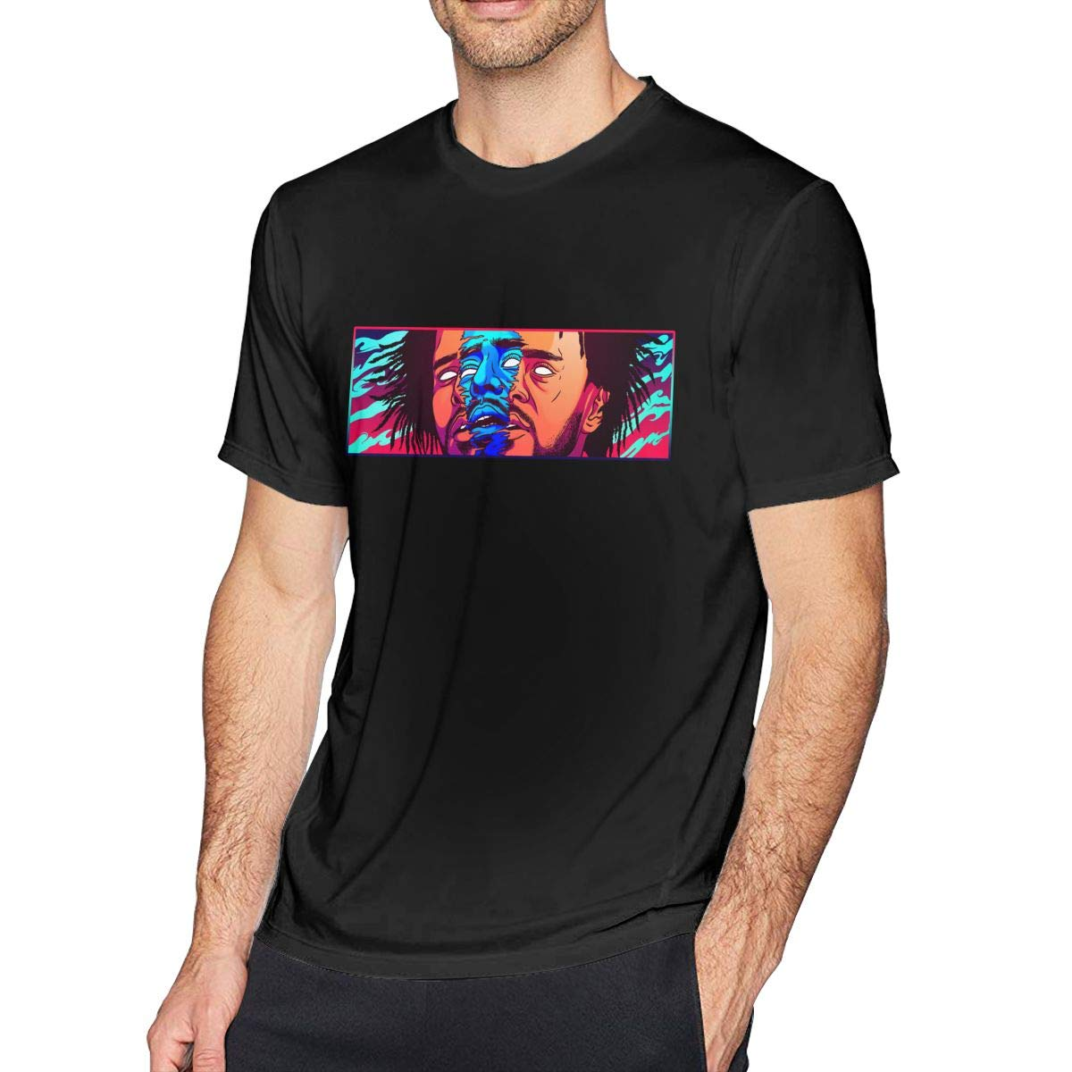 FengYuqi J Cole Man Classic Short Sleeve T-Shirt Athletic Cool Running T-Shirt Black